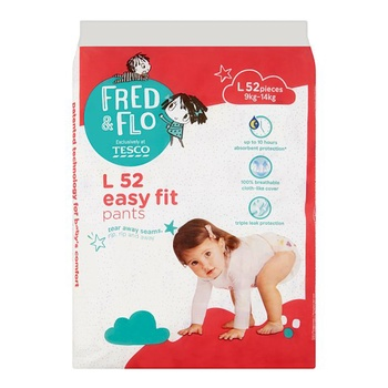 Tesco Fred & Flo Baby Pant L 52 Pieces