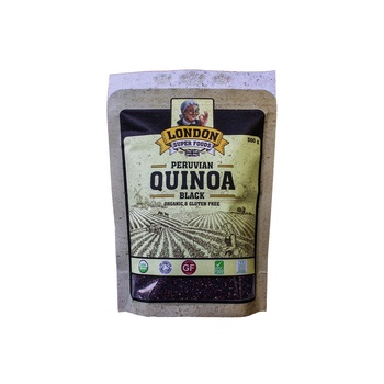 London Super Foods Organic Gluten Free Black Quinoa 500g