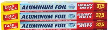 Glad Alluminium Foil 37.5 Sq. Ft. 2+1
