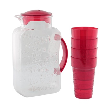 Harevin 2.2 Liter 5 Pcs Beverage Set