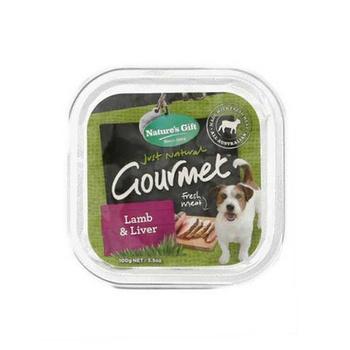 Natures Gift Gourmet Lamb & Liver Dog Food 100g