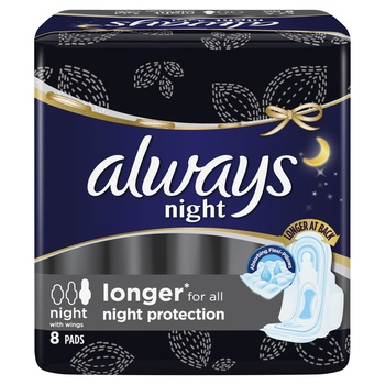 Always Thick Sens Night Pads 8s