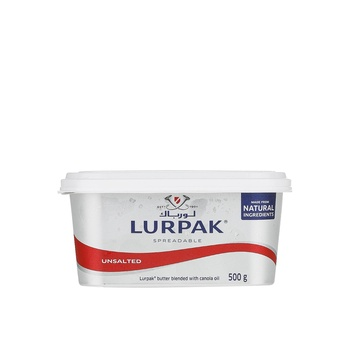 Lurpak Unsalted Spreadable Butter 500g