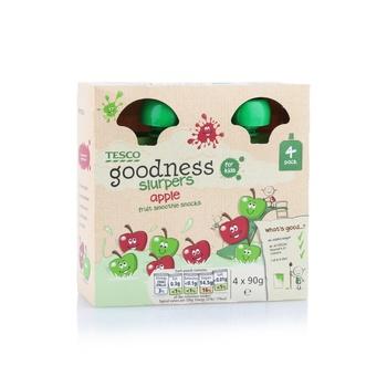 Tesco Goodness Apple Fruit Slurpers 90g