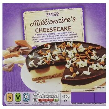 Tesco Millionaire's Cheesecake 450g
