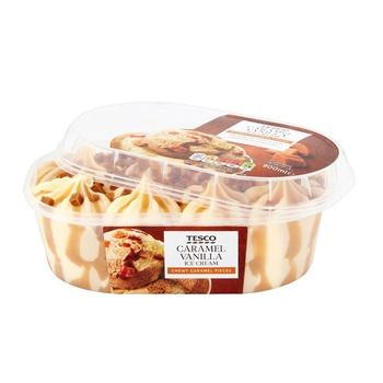 Tesco Caramel Vanilla Ice Cream 900ml