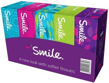 Smile Facial Tissues 5 x 150 x 2ply