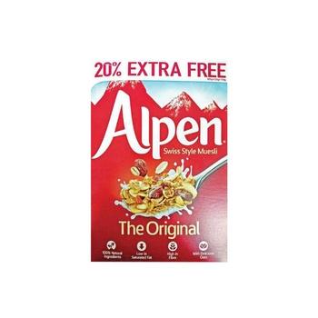 Alpen Museli Breakfast Cereal 625g+20% Extra