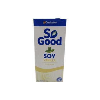 Sanitarium So Good: Vanilla Flavoured Soy Milk 1 ltr