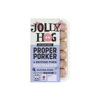 The Jolly Hog Proper Porker Sausages 400g