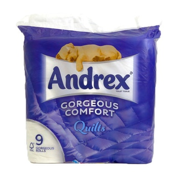 Andrex Toilet Tissue Gorgeous Comfort Quilts 9pcs