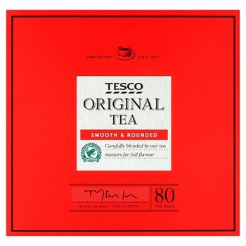 Tesco 80 Tea Bags 250g