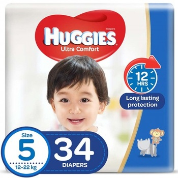 Huggies Ultra Comfort Diapers Economy Pack Size 5 34 pcs @ 20% Off