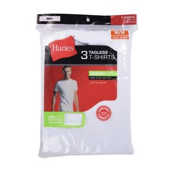 Hanes Mens C-Neck T Shirt 3 pcs pack - XL