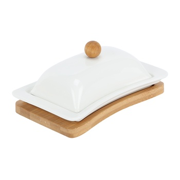 Home Selection Butter Dish On  Tray