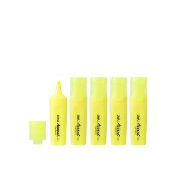 Deli Yellow Highlighter Chisel Tip Yellow 4+1 Pcs