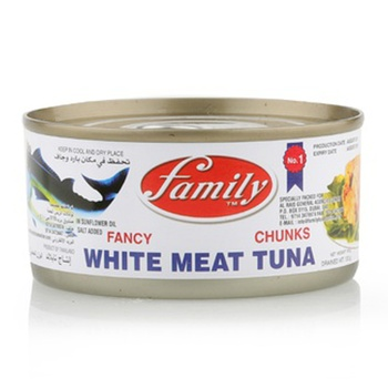 Family White Meat Tuna Chunk In Vegetable Oil 185g