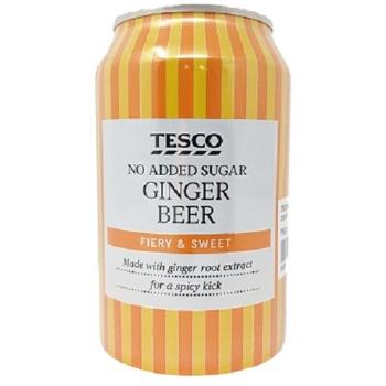 Tesco No Added Sugar Fiery Ginger Beer 300ml