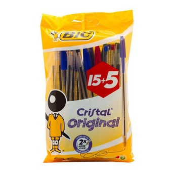 BIC Cristal Assorted Ball Pen 20 Pc Pack