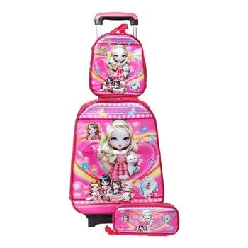 School Bag Trolley with Lunch Bag & Pencil Case