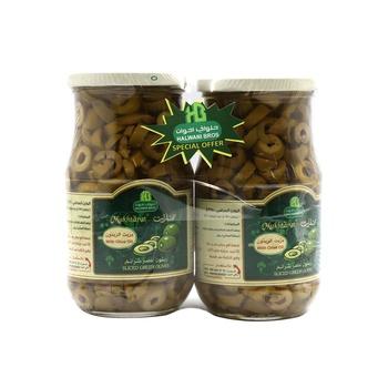 Halwani Sliced Green Olives 325g Pack of 2