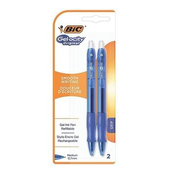 BIC Gelocity Blue Gel Pen 2 Pc Pack