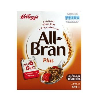Kelloggs Cereal All Bran Plus Wheat Bran 375g