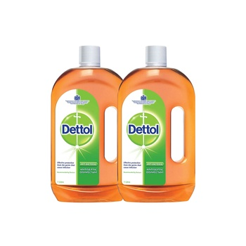 Dettol Anti-Bacterial Disinfectant Liquid 1L Pack Of 2