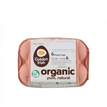 Golden Irish Organic Free Range Large/Medium 6 Pack Eggs