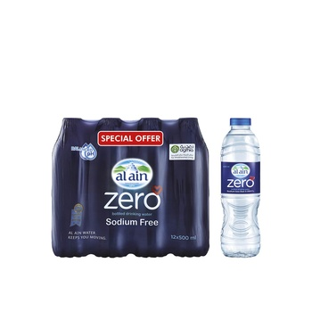 Al Ain Zero Water 12 X 500ml