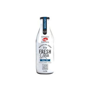Al Ain Full Cream Milk 1 ltr Glass Bottle