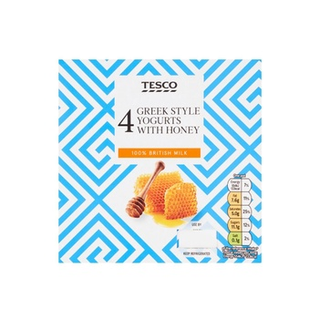 Tesco Honey Greek Yoghurt 4 X100g