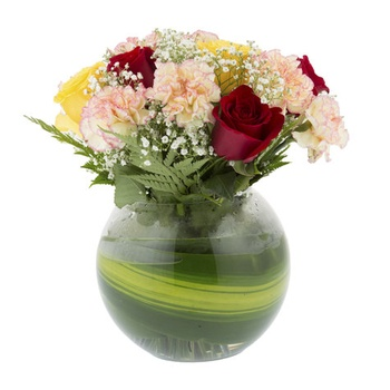 Fishbowl Glass Vase Arrangement Medium