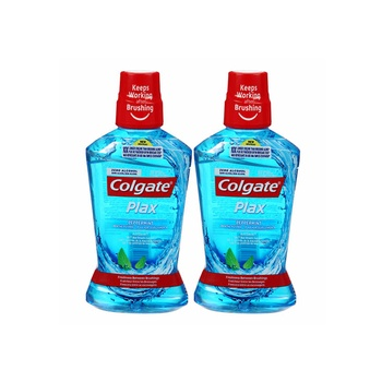 Colgate Plax Peppermint Blue 500ml Pack Of 2