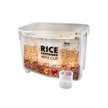 JCJ Rice Container Capacity 5 Kg with Wheels