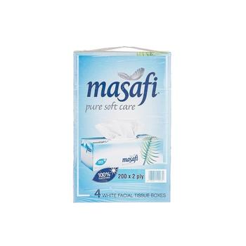 Masafi facial tissue Pure Soft Care 4 x 200 pcs