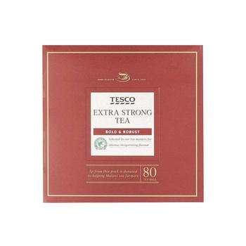 Tesco Extra Strong Tea 80Bags 250g