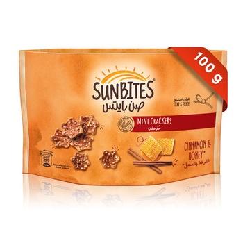 Sunbites Cinnamon & Honey Mini Crackers 100g