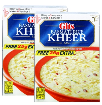 Gits Rice Kheer Mix 2 x 100gm + 25% Extra