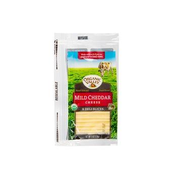 Organic Valley Cheese Sliced Mild Cheddar 6Oz