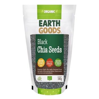 Earth Goods Organic Black Chia Seeds 340g