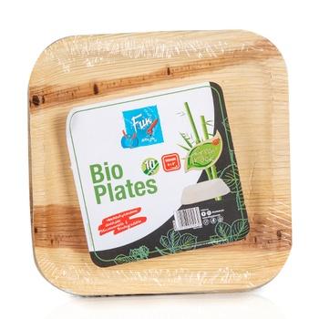 Fun® Palm Bio Leaf Square Plate 8 inches 10 pcs