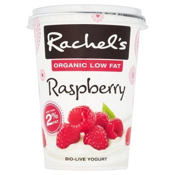 Rachels Organic Low Fat Raspberry Bio Live Yoghurt 450g