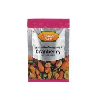 Goodness Foods Cranberry & Nuts & Seed Packet 20g