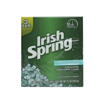 Irish Spring Soap Deep Action Scrus 104ml Pack of 3