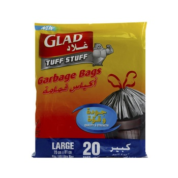 Glad Garbage Bag Large 70 X 81 110 Liter 20pcs
