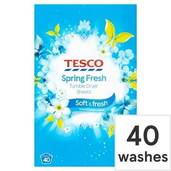Tesco Spring Fresh Tumble Dryer Sheets 40's