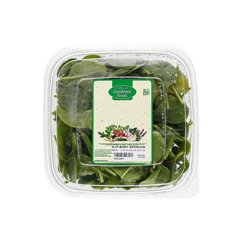 Goodness Foods Baby Spinach 100g Pack