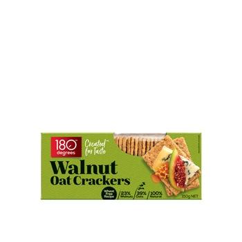 180 Degrees Walnut Oat Crackers 150g