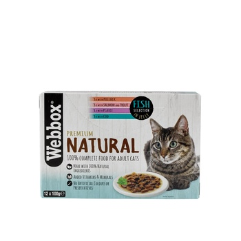 Webbox Natural Cat Food Fish In Jelly Selection 12X100g